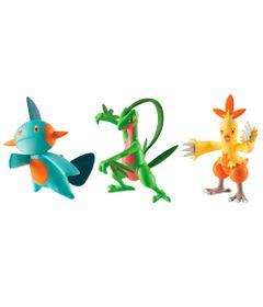 Conjunto-de-Figuras---Pokemon---Grovyle---Combusken---Marshtomp---Sunny