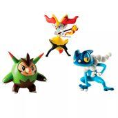 Conjunto-de-Figuras---Pokemon---Quilladin---Braixen---Frogadier---Sunny