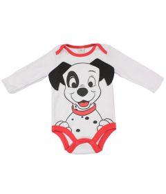 Body-Manga-Longa-em-Suedine---Branco-e-Vermelho---101-Dalmatas---Disney---M