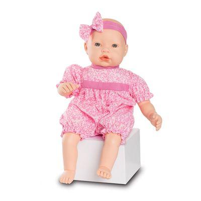 Boneca-Baby-By---Com-Roupinhas---Macaquinho-Rosa-Claro-com-detalhes---Roma-Jensen