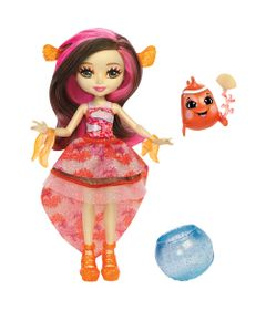 Mini-Boneca---Enchantimals-Water---Conjunto-Boneca-e-Bicho---Clarita-Clownfish---Mattel