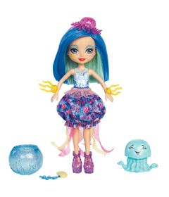 Mini-Boneca---Enchantimals-Water---Conjunto-Boneca-e-Bicho---Jessa-Jellyfish---Mattel