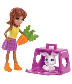 Mini-Boneca---Polly-Pocket---Conjunto-Boneca-e-Bichinho---Shani---Mattel