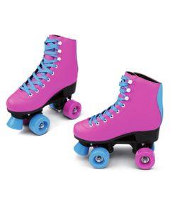 Patins-Quad-Roller---Retro---Rosa-e-Azul