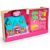 Playset-e-Mini-Figura---Mini-House---Casinha-Telhado-Azul---Tati---DTC