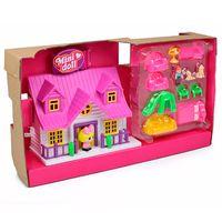 Playset-e-Mini-Figura---Mini-House---Casinha-Telhado-Rosa---Vilma---DTC