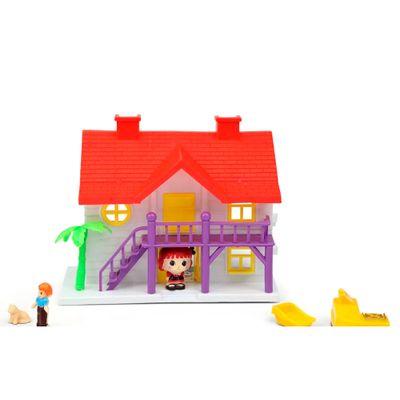 Playset-e-Mini-Figura---Mini-House---Casinha-Telhado-Vermelho---Lucy---DTC