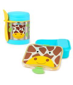 Kit-Hora-do-Lanchinho-Zoo---Girafa---2-Pecas---Skip-Hop