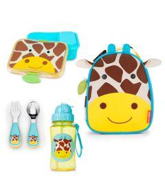 Kit-Hora-do-Lanchinho-Zoo---Girafa---4-Pecas---Skip-Hop