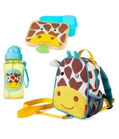 Kit-Hora-do-Lanche-com-Mochila-de-Cinto-Zoo---Girafa---Skip-Hop