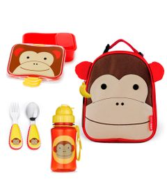 Kit-Hora-do-Lanchinho-Zoo---Macaco---4-Pecas---Skip-Hop