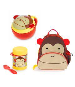 Kit-Hora-do-Lanche-com-Mochila-Zoo---Macaco---Skip-Hop