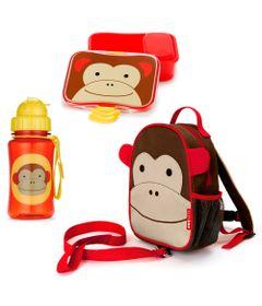 Kit-Hora-do-Lanche-com-Mochila-de-Cinto-Zoo---Macaco---Skip-Hop
