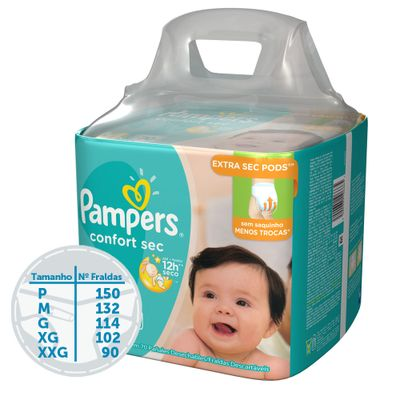 Kit-de-Fraldas-Descartaveis---Confort-Sec---Pampers