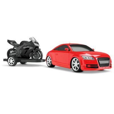 Carro-GT-R-Concept-Racing-com-Moto---Vermelho-e-Preto---Roma-Jensen