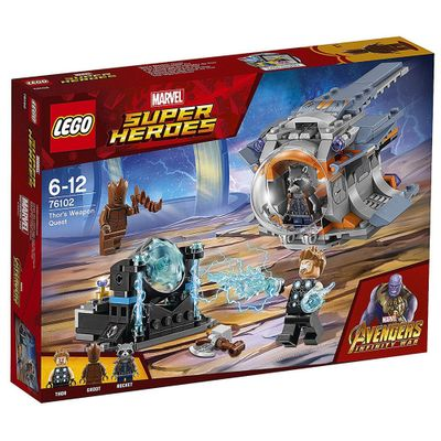 LEGO-Super-Heroes---Disney---Marvel---Avengers---Infinite-War---Procura-da-Arma-do-Thor---76102