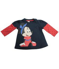 Blusa-Manga-Longa---Marinho-e-Vermelho---Floresta-Minnie---Disney---M