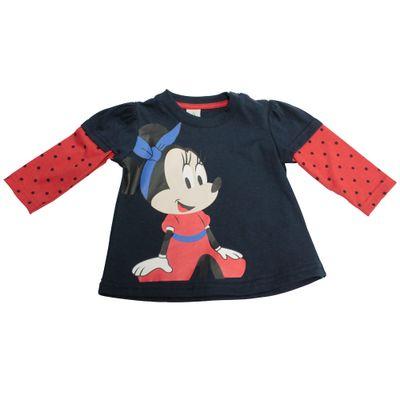 Blusa-Manga-Longa---Marinho-e-Vermelho---Floresta-Minnie---Disney---P