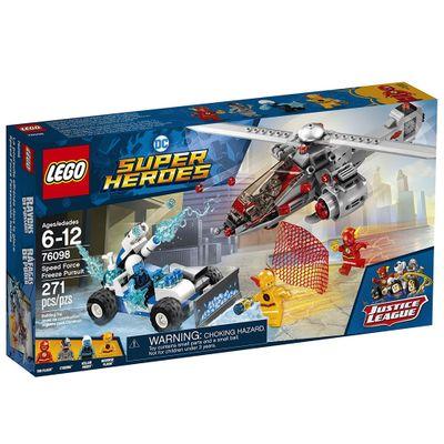 LEGO-Super-Heroes---Liga-da-Justica---Perseguicao-Congelante-em-Alta-Velocidade---76098