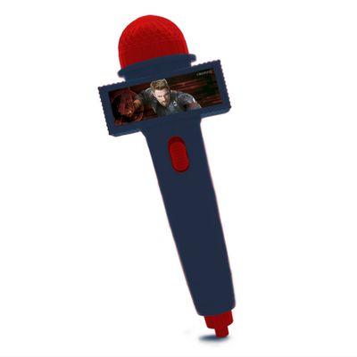 Microfone-Infantil-com-Eco-e-Luz---Azul---Disney---Marvel---Avengers---Capitao-America---Toyng