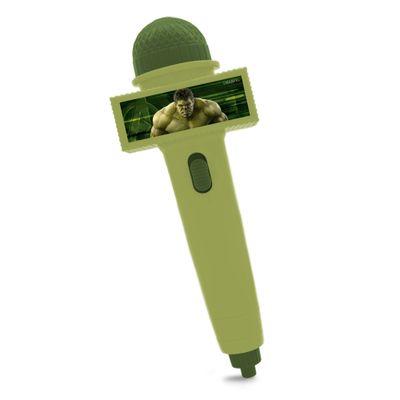 Microfone-Infantil-com-Eco-e-Luz---Verde-Claro---Disney---Marvel---Avengers---Hulk---Toyng