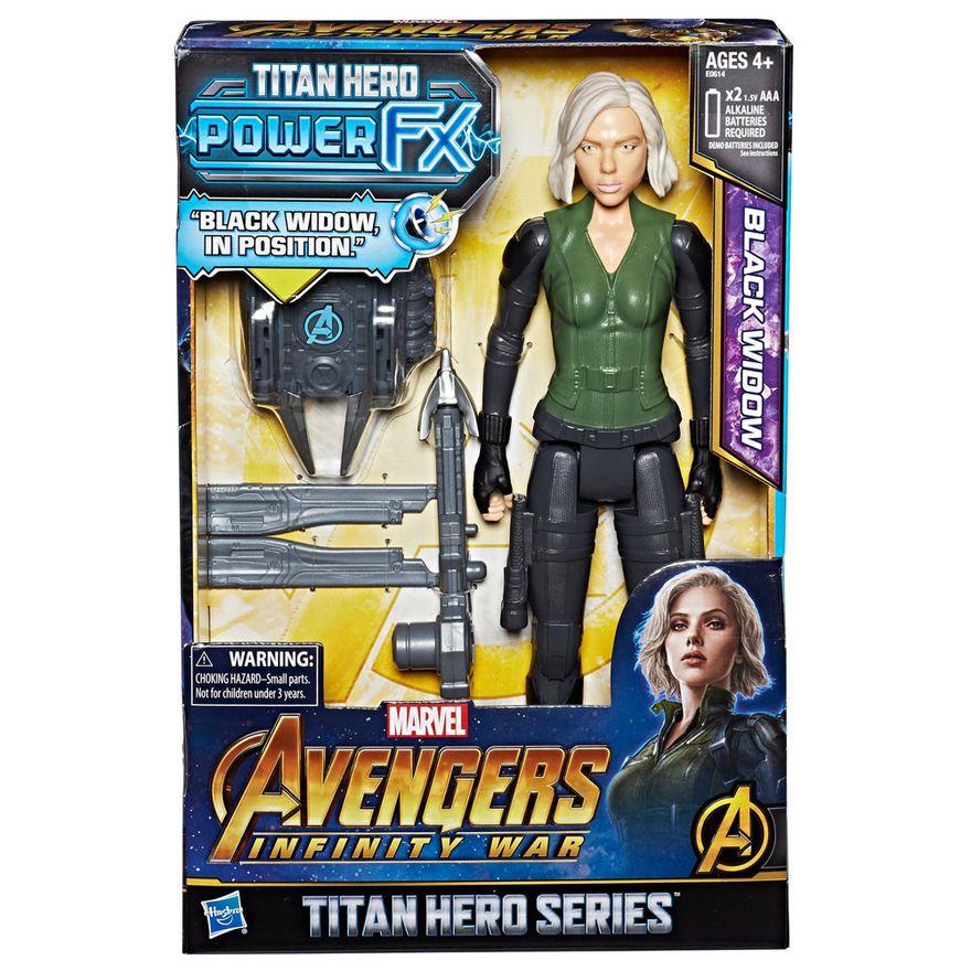 Figura-de-Acao---Power-Pack---30-Cm---Disney---Marvel---Avengers---Serie-Titan-Hero---Viuva-Negra---Hasbro