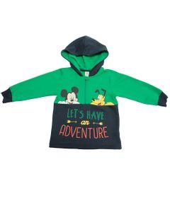 Blusao-em-Moletom---Verde-e-Marinho---Floresta-Mickey---Disney---1