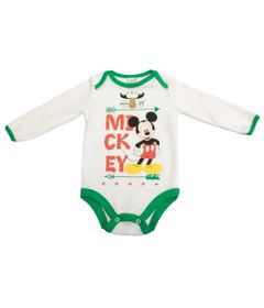 Body-Manga-Longa-em-Suedine---Off-White-e-Verde---Floresta-Mickey---Disney---P