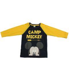Camiseta-Manga-Longa-em-Meia-Malhada---Marinho---Floresta-Mickey---Disney---1
