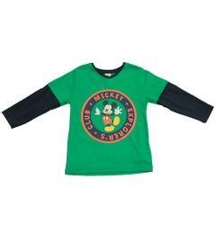 Camiseta-Manga-Longa-em-Meia-Malha---Marinho-e-Verde---Floresta-Mickey---Disney---1