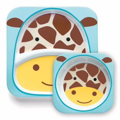 Conjunto-de-Prato-e-Tigela---Zoo---Girafa---Skip-Hop