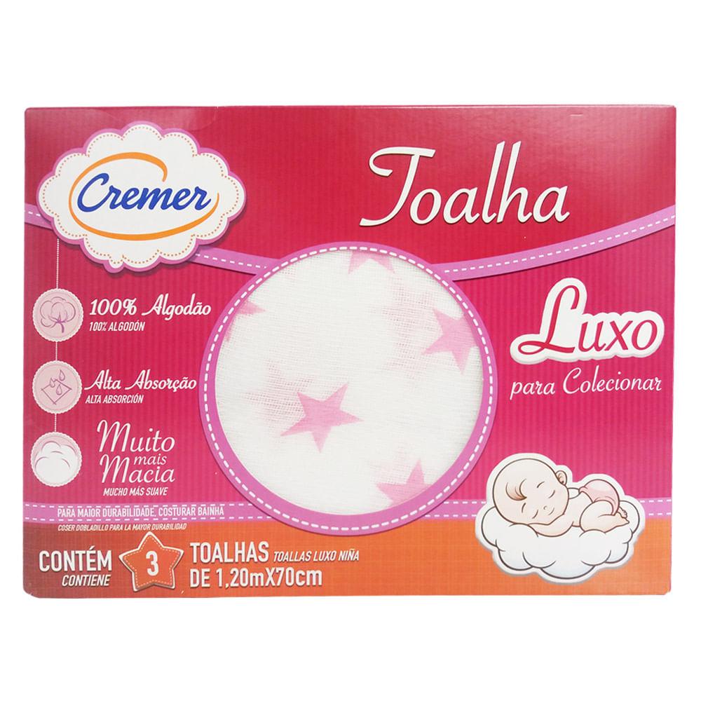Toalha Luxo Estampada Feminina - Estrela - Cremer