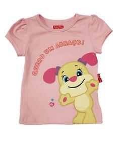 Blusa-Manga-Curta-em-Cotton---Cachorro-em-Gel-Brilhoso---Rosa-Claro---Fisher-Price---1