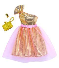 Roupinha-e-Acessorios---Barbie---Vestido-Dourado---Mattel