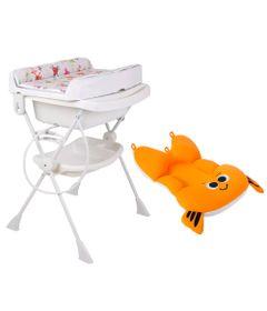 Kit-Banheira-com-Suporte-e-Trocador-Splash----Monstrinhos-Banho-e-Almofada---Peixinho