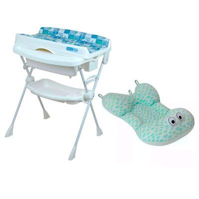 Kit-Banheira-com-Trocador---Millenia---Peixinho-Azul-e-Almofada---Nuvem-