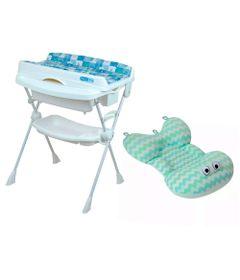 Kit-Banheira-com-Trocador---Millenia---Peixinho-Azul-e-Almofada---Zig-Zag