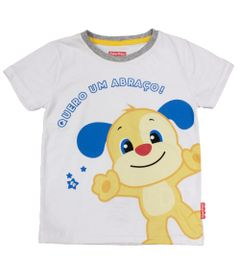 Camiseta-Manga-Curta-em-Meia-Malha---Cachorro---Branco---Fisher-Price---1