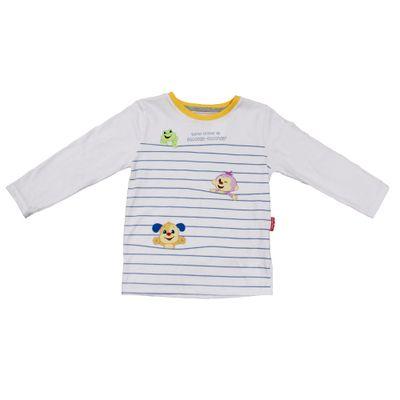 Camiseta-Manga-Longa-em-Meia-Malha---Animais---Branco---Fisher-Price---1
