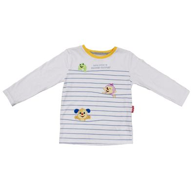Camiseta-Manga-Longa-em-Meia-Malha---Animais---Branco---Fisher-Price---2