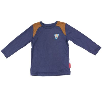 Camiseta-Manga-Longa-em-Meia-Malha---Cachorro---Azul-Denin---Fisher-Price---1