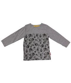 Camiseta-Manga-Longa-em-Meia-Malha-com-Patas---Cinza---Fisher-Price---1
