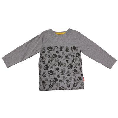 Camiseta-Manga-Longa-em-Meia-Malha-com-Patas---Cinza---Fisher-Price---3