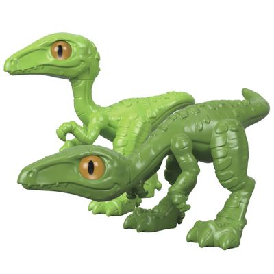 Figura-Basica-Imaginext---Jurassic-World---Filhote-Compsognato---Verde---Fisher-Price