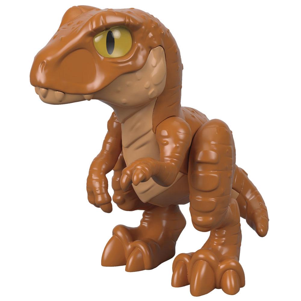 Mini Figura - 7 Cm - Imaginext - Jurassic World - Filhote Tiranossauro Rex - Marrom - Fisher-Price