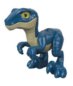 Figura-Basica-Imaginext---Jurassic-World---Filhote-Velociraptor---Azul---Fisher-Price