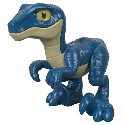 Figura-Basica-Imaginext---Jurassic-World---Filhote-Velociraptor---Azul---Fisher-Price