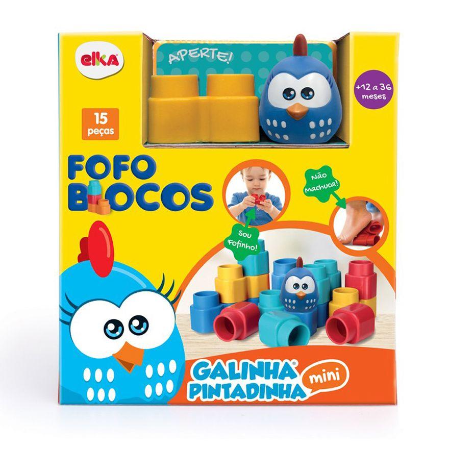 Blocos-de-Montar-Macio---Galinha-Pintadinha---15-Pecas---Mini---Elka