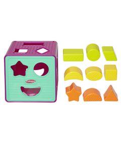 Cubo-com-Formas--Roxo-e-Azul---Playskool---Frente
