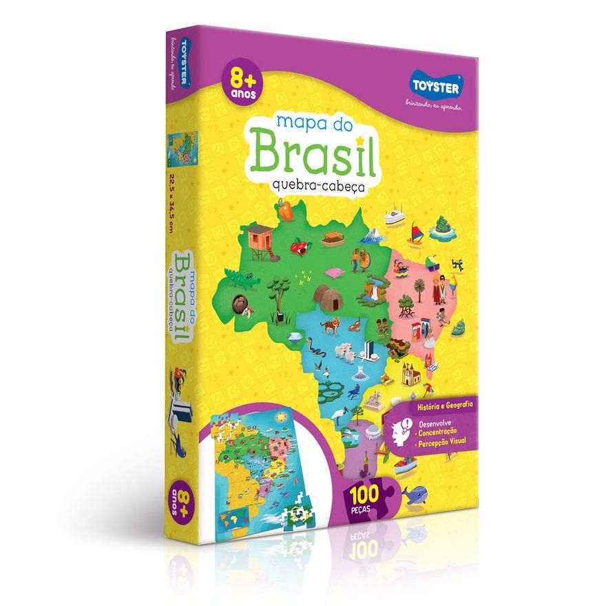Quebra-Cabeca---Mapa-do-Brasil-2018---100-Pecas---Toyster---Frente